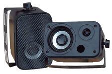 Pair New Pyle PDWR30B 3.5'' Indoor/Outdoor Waterproof Speakers Black