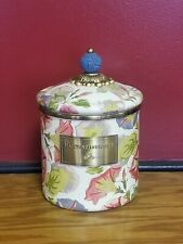 MACKENZIE CHILDS MORNING GLORY CANISTER SMALL NEW