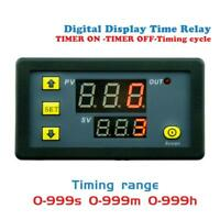 DC12V Timing Delay Relay Module Cycle Timer Digital LED Dual Display 0-999hours