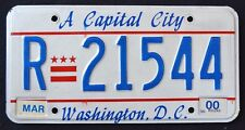 "WASHINGTON DC "" A CAPITAL CITY "" 2000 WADC Vintage Classic  License Plate"
