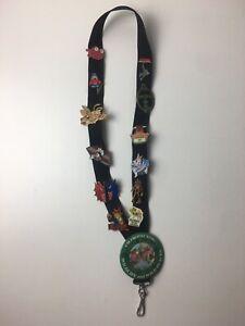 Disney & Universal Studios Pin Lot W/ Lanyard Includes Rare Treasure Planet Pins