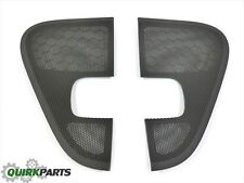 2004-2008 Ford F-150 Right & Left Door Speaker Grille Covers Flint Grey OEM NEW