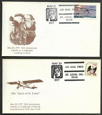 Charles Lindberg 50th Anniversary UnSigned Gateway Stamp Envelope Set Postmark