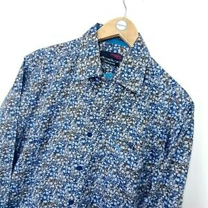Mens Ungaro 70's Style Crazy Pattern Floral Shirt Size Small