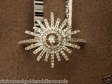 Fashion Right Hand Ring Band New Yellow Gold Snowflake Snow Flake Diamonds