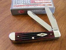 CASE XX New 2nd Cut Crimson Jigged Bone Handle 2 Blade Trapper Knife/Knives