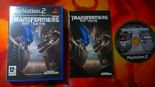 THE TRANSFORMERS GAME PLAYSTATION 2 PS2