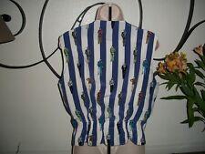 Cute! NEIMAN MARCUS $120~Tuxedo OSCAR Gentleman ALEX DE BOLZAN Vest Wm's 10 12 L