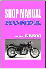 HONDA Workshop Manual GB500 GB400 TT GB400TT GB500TT Service and Repair