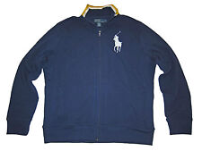 Polo Ralph Lauren Big Pony L Navy Blue Fleece Coat Track Jacket Large