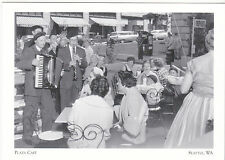 """The Plaza (Sidewalk) Cafe"" w/Musicians-1959- ...Seattle WA. (A11-3) /Post Card/"