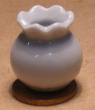 1:12 Scale White 2.3cm High Ceramic Vase Tumdee Dolls House Ornament Flower W72