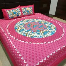Indian cotton bed sheets 2 pillow jaipuri traditional handmade mandala cover_H1