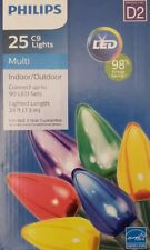 Philips 25 C9 LED Christmas Lights Multi LED Color Indoor/Outdoor  24 Ft.