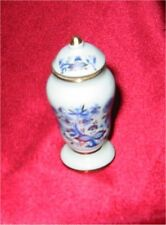 Dollhouse Miniature Real Gold Blue Onion Vase w/Lid Reutter of Germany 14838