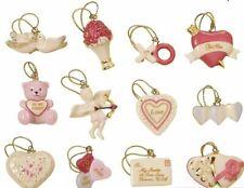 Lenox Be Mine Valentine 12 miniature Tree Ornaments set New in Box mini Hearts