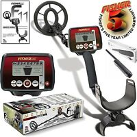 Fisher F11 Metal Detector 7' Waterproof Search Coil + PinPointer Beach River New