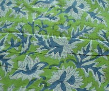 5 Yard Indian Hand block Print Running Loose Cotton Fabrics Printed Decor @68