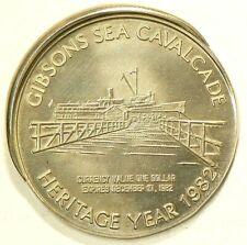 1982 Canada $1 British Columbia Dollar Broadstruck ERROR #4747