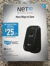 LG 237C NET10 Wireless New CDMA Flip Phone Black Bluetooth 1.3MP Camera