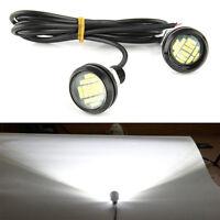 2PC White DC 12V 15W Eagle Eye LED Daytime DRL Backup Car Light Lamp Easy to Use