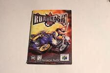 Nintendo 64 N64 - Road Rash- Instruction Manual Booklet Only