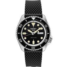Seiko 5 Black Dial SRPD95 Automatic Rubber Strap Watch