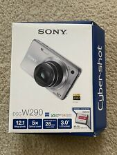 Sony Cyber-shot DSC-W290 12.1MP Digital Camera - Silver