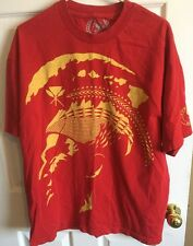 T&C Surf Designs Hawaii T Shirt Xl Red Polynesian Warrior Theme