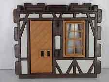 Playmobil Ritterburg-  Fachwerkwand Fenster Tür , ohne Riegel