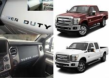 Chrome Mirror Dashboard Letter Inserts Kit For 2008-2016 Ford F250/F350/F450 New