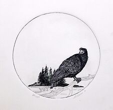 Art Vickers Original Etching Hand Signed Numbered Limited Native Ravens Cry 1991