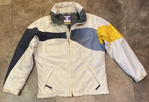 Burton Toast Women's Snowboard Jacket/Coat-Winter-Size Medium-Cream/Gray/Yellow