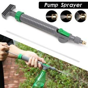High Pressure Air Pump Manual Sprayer  Drink Bottle Spray Head Nozzle Adjustable