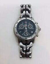 Tag Heuer Professional Authentic Steel Black 200m Quartz Chronograph Men's Watch