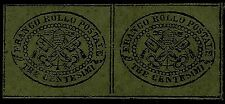 PAPAL ROMAN STATES, 3 CENT., GREY PAPER, YEAR 1867, MINT, SET OF 2