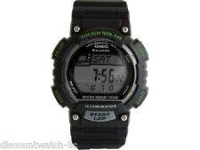Casio STLS100H-1A Mens Black Gray TOUGH SOLAR Sports Watch 5 Alarms LED NEW