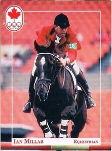 1992 Barcelona Ian Millar Canadian Olympic Equestrian Team NOC Sports Card