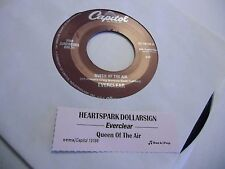 EVERCLEAR Heartspark Dollarsign/Queen of The Air 45 RPM Capitol EX