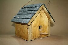"Handcrafted Wooden Wren House with Handcut Shingles ""BRS 18"""