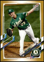 Mike Minor 2021 Topps 5x7 Gold #329 /10 Athletics