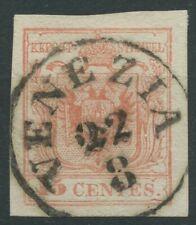 Lombardo Veneto 15 centesimi rosso III tipo - annullo VENEZIA