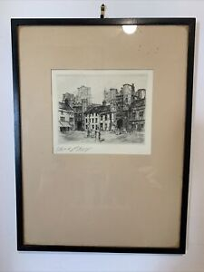 Edward J Cherry 'the Market Place' Signed Artist Proof Etching