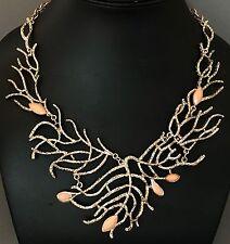 Non firmate Oscar de la Renta coral branch collana.