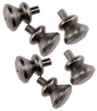 Dollhouse Miniature Knobs - Satin Nickel Finish - (6 pack) - #05535 - 1:12 Scale
