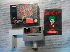 Jeu Super Nintendo / Snes Game Sim City CIB Hol retrogaming BIEN LIRE