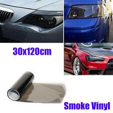 30cm x 120cm Medium Smoke Headlight Tinting Film Fog Vinyl Lights Black
