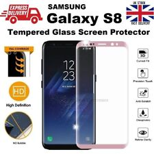Full 3D Curved Tempered Glass Screen Protector for Samsung Galaxy S8 Rose Pink