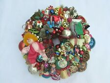 "Vintage Multi Color Christmas Ornament Wreath 19"" 30783 Shiny Brite Germany"