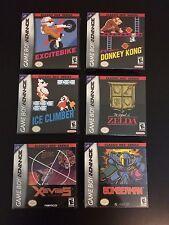 Sealed Zelda, Excitebike, Donkey Kong, Ice Climber, Xevious, Bomberman GBA RARE!